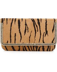 Judith Leiber Couture Carmichael Calf-Hair Evening Clutch Bag - Lyst