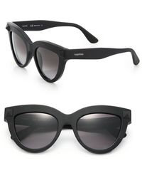 Valentino Signature Stud 51Mm Cat'S-Eye Sunglasses black - Lyst