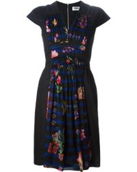 Sonia by Sonia Rykiel Stripe And Floral Panel Dress - Lyst