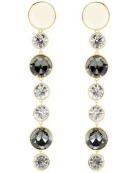 By Malene Birger Nanni Embellished Clipon Earrings - Lyst