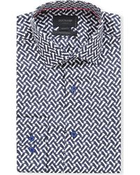 Duchamp Silk Printed Shirt - For Men - Lyst