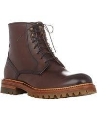 Elia Maurizi Leather Lace-up Boots - Lyst