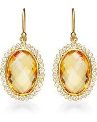 Kothari - Oval Citrine Earrings - Lyst