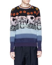 Paul Smith 'Wild Art' Jacquard Cotton-Silk-Wool Sweater multicolor - Lyst