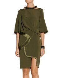 Prabal Gurung Draped Woven Silk Dress - Lyst