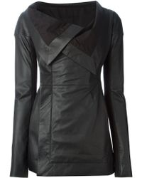 Rick Owens Fitted Jacket - Lyst