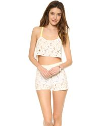 Zinke - Lola Crop Cover Up Top Ivory - Lyst