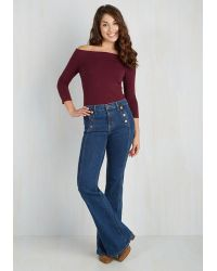 East Concept Fashion Ltd - Cafe Parfait Top In Merlot - 3/4 Sleeves - Lyst