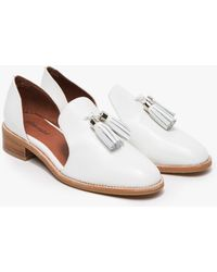 Jeffrey Campbell Open Case Flats white - Lyst