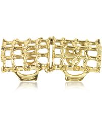 Bernard Delettrez - Cage And Studs Articulated Bronze Ring - Lyst