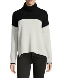 Philosophy Cashmere - Cashmere Colorblock Ribbed Sweater - Lyst
