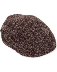 Lardini - Wool Blend Knit Flat Cap - Lyst