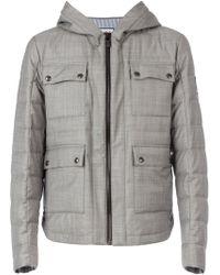 Moncler Gamme Bleu Padded Hooded Jacket - Lyst