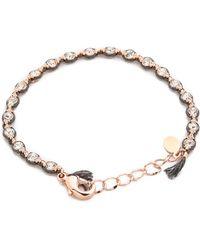 Shashi Evil Eye Ballerina Bracelet - Nude - Lyst