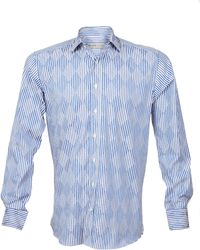 Etro Stripe Graphic Camicia Shirt - Lyst
