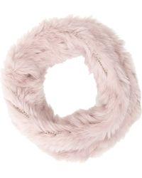 Barneys New York Pink Fur Cowl - Lyst
