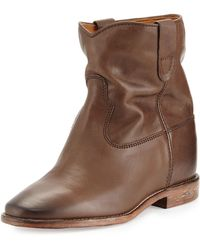 Isabel Marant Cluster Slouchy Leather Ankle Boot - Lyst