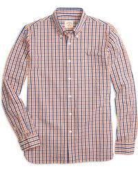 Brooks Brothers Seersucker Check Sport Shirt - Lyst