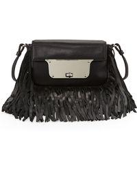 Milly Isabella Fringe Crossbody Bag - Lyst