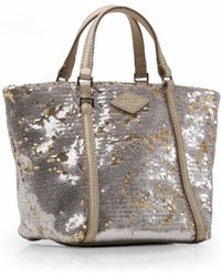 MZ Wallace - Gold Dust Sequin Mini Astor Tote - Lyst