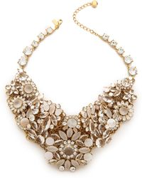 Kate Spade - Grande Bouquet Statement Necklace Clear Multi - Lyst