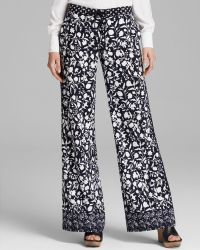 Adrianna Papell - Wide Leg Printed Trousers - Lyst