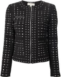 Michael by Michael Kors Black Studded Jacket - Lyst