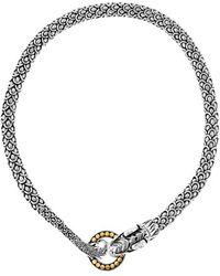 John Hardy 'Naga' Dragon Necklace silver - Lyst
