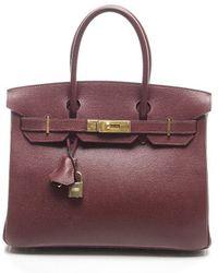 Hermès Pre-Owned Rouge H Epsom 30Cm Birkin Bag - Lyst