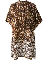 Roberto Cavalli Turtle Print Tunic Dress - Lyst
