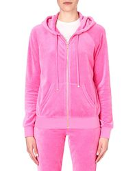 Juicy Couture Classic Velour Hoody Highlighter - Lyst