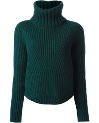 Alexander McQueen Ribbed Knit Sweater - Lyst
