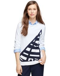 Brooks Brothers Supima Cotton Sweater - Lyst