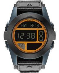 Nixon Blue Neon Orange Steel Baja Watch - Lyst