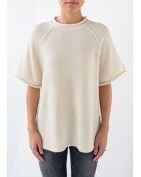 3.1 Phillip Lim | Raglan Cutoff Sleeve Top Ivory | Lyst
