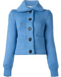 Marc Jacobs Ribbed Cardigan - Lyst