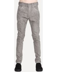 The Viridi-anne Vi-2418-04 Five Pocket Skinny Jeans gray - Lyst