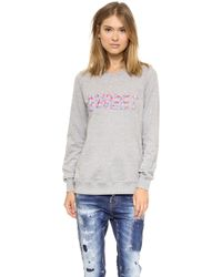 Markus Lupfer Sweet Beaded Sweatshirt Grey - Lyst