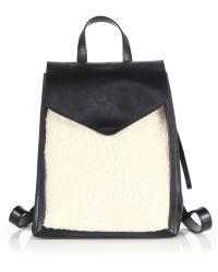Loeffler Randall - Mini Shearling & Leather Backpack - Lyst