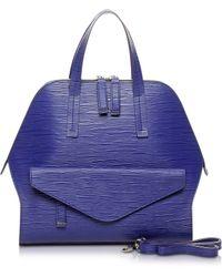 Francesco Biasia - Kenton Purple Leather Bowler Bag - Lyst
