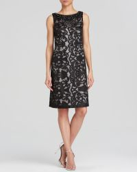 Sue Wong Dress - Sleeveless Laser-Cut Lace Sheath - Lyst