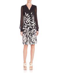 Diane von Furstenberg | Sigourney Silk Bamboo Wrap Dress | Lyst