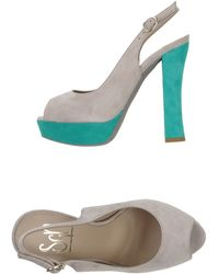 Sgn Giancarlo Paoli Gray Sandals - Lyst