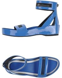 Kenzo Sandals blue - Lyst