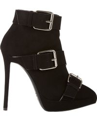 Giuseppe Zanotti Buckle-Strap Ankle Boots - Lyst