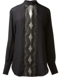 Lover Black Silk Shirt - Lyst