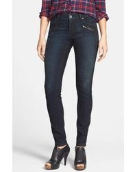 Kut From The Kloth 'Diana' Zip Detail Stretch Skinny Jeans - Lyst