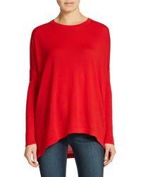DKNY Hi-Lo Merino Wool Sweater - Lyst