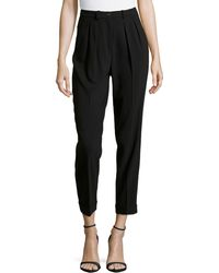 Michael Kors Slim Pleated Cuffed Ankle Pants - Lyst