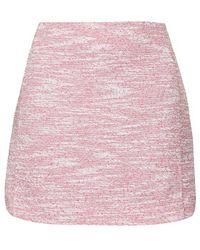 Topshop Boucle Curved Hem Mini Skirt - Lyst